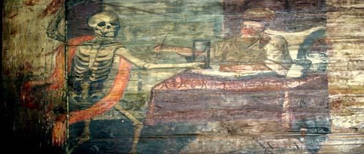 """""""Bierdzka śmierć"""" - polichromia w kościele św. Jadwigi w Bierdzanach"""