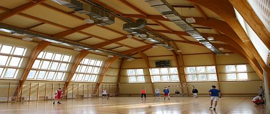 Sala gimnastyczna w kompleksie sportowym w Zespole Szkół w Tułowicach